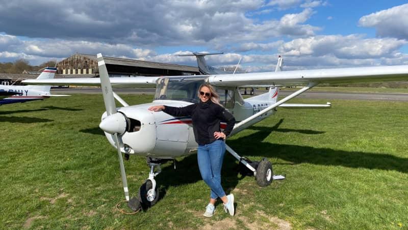 Hazrati has sunk her life's savings into pilot training.