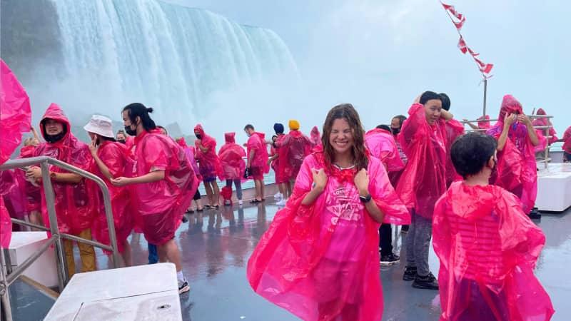 A boat trip to see Niagara Falls.