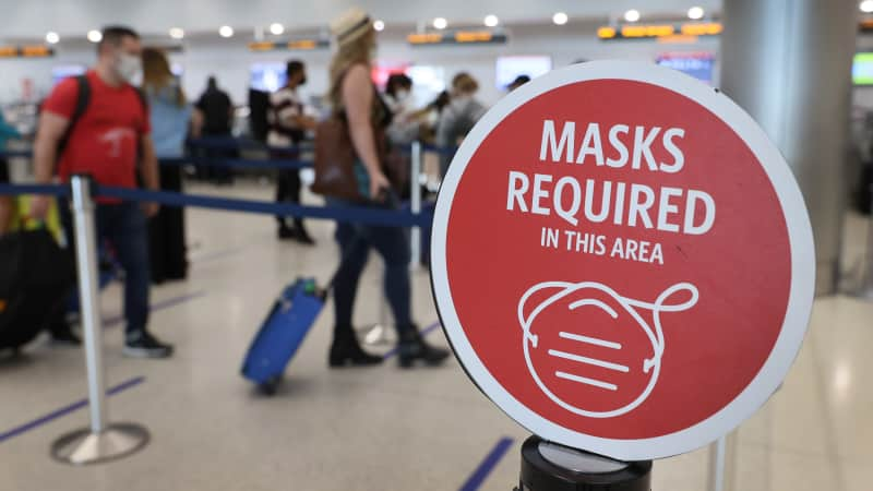 Masks are mandated by law in the US on federal property and on public transportation, including airplanes.