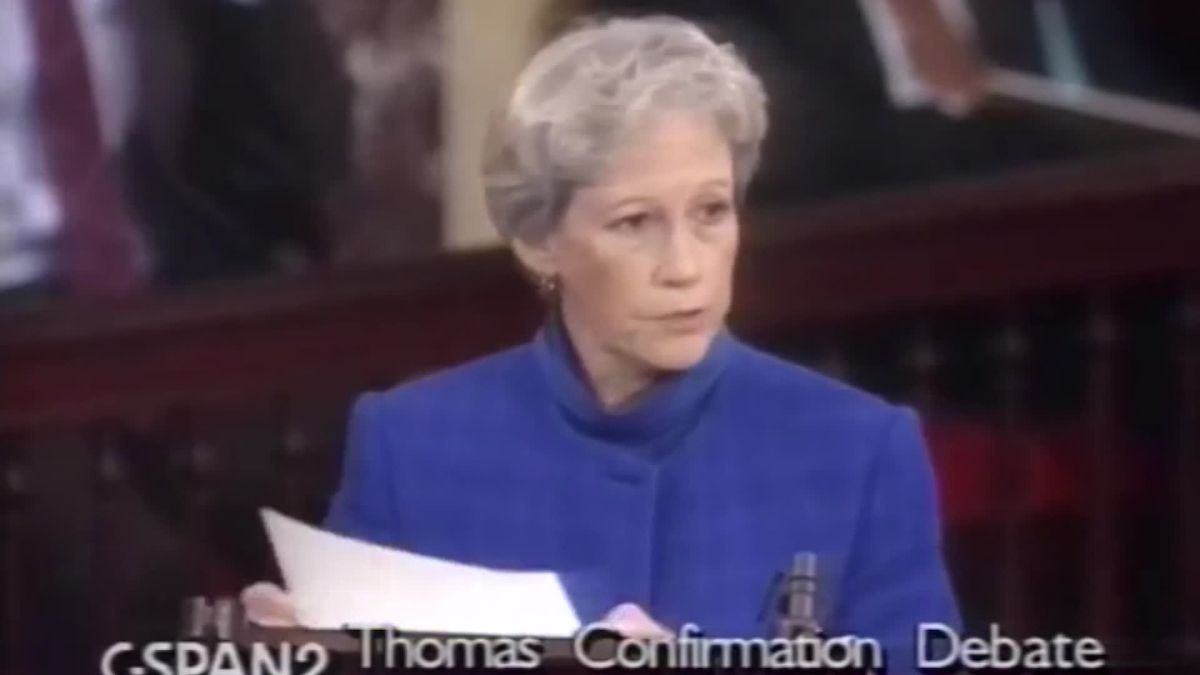 Former senator has regret about Clarence Thomas - CNN Video