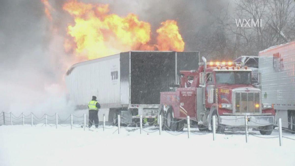 Massive chain-reaction accident closes I-94 in Michigan - CNN