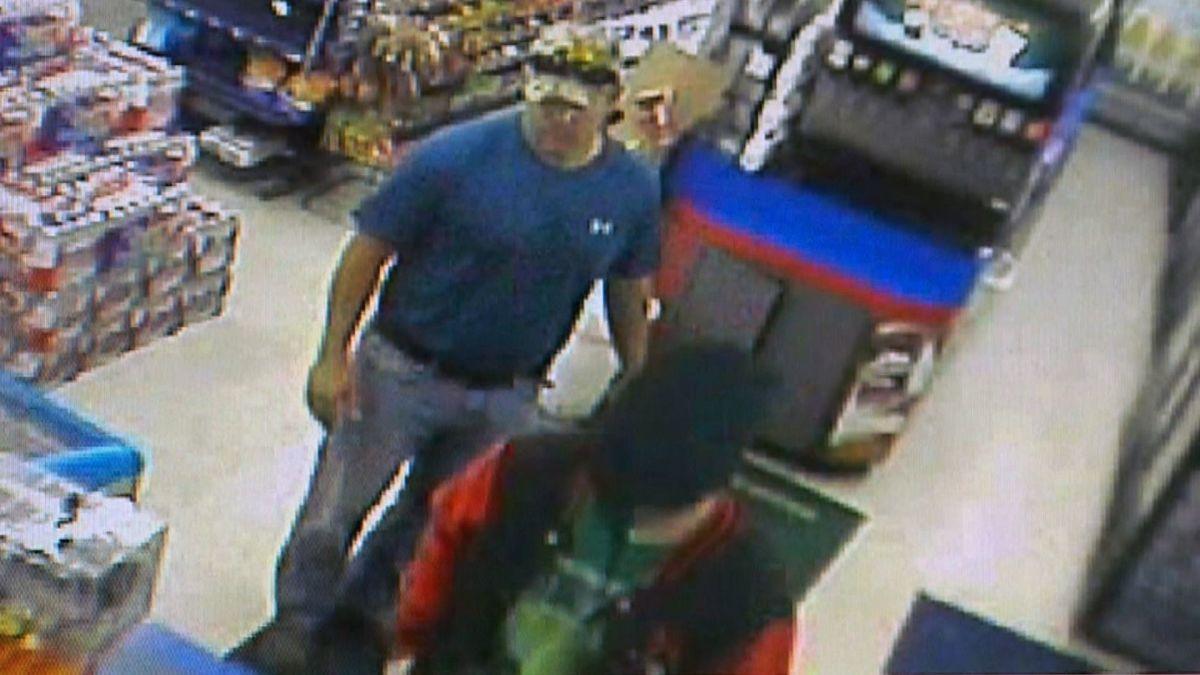 Robber unaware former Marine is behind him