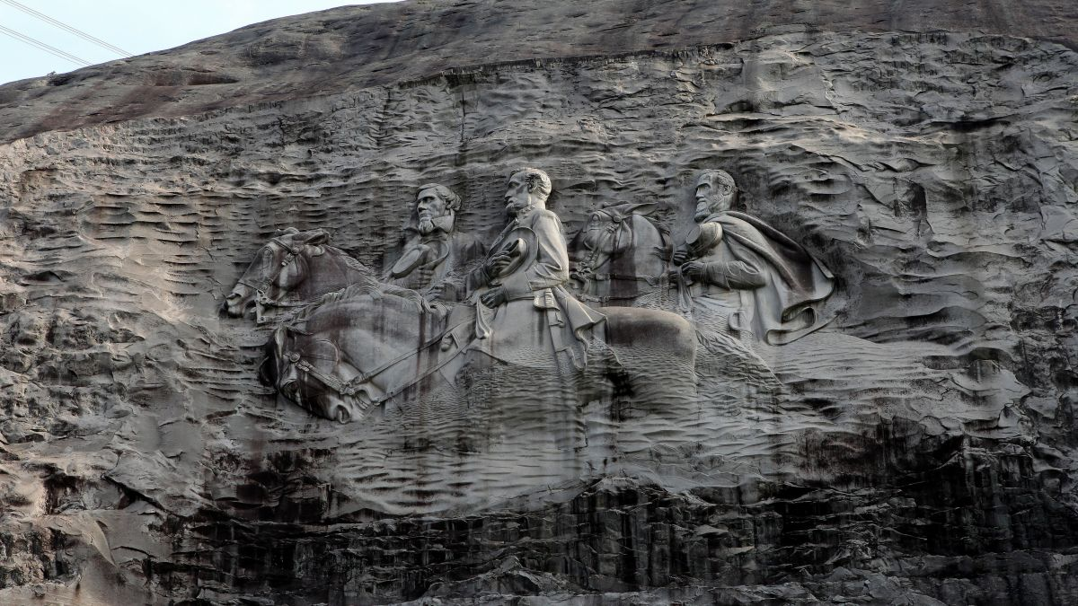 who is on stone mountain carving