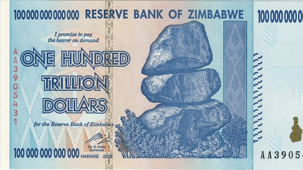 The Worthless 100 Trillion Dollar Bank Note Cnn