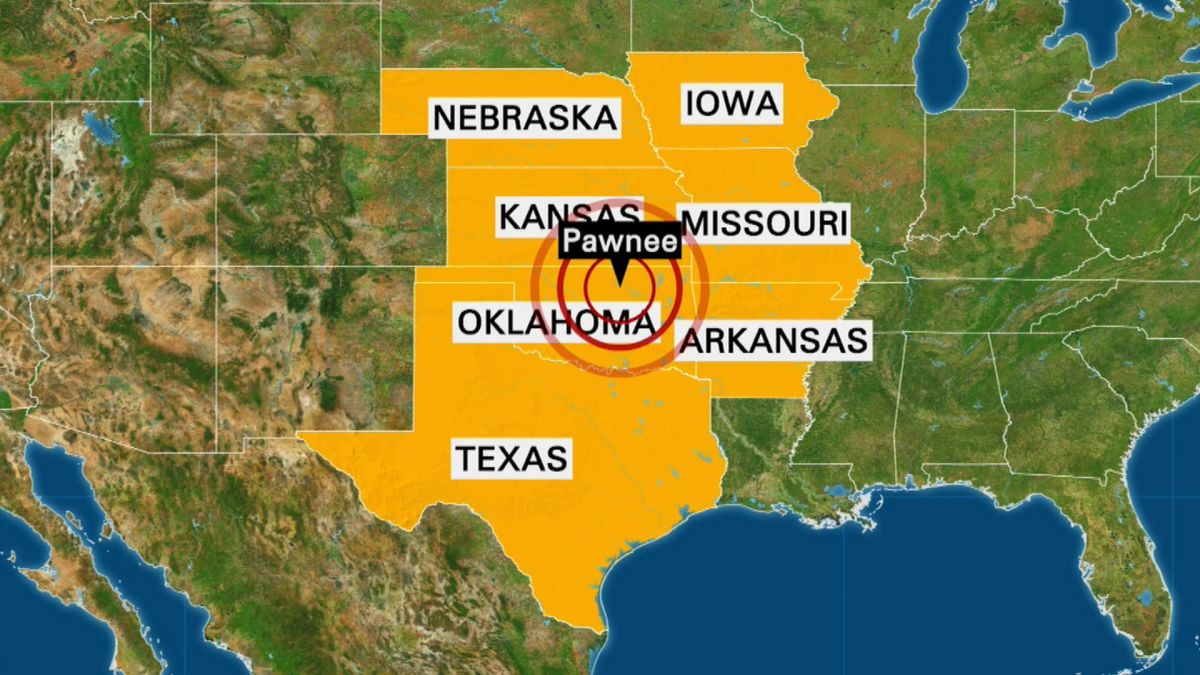 Oklahoma earthquake rattles six surrounding states - CNN on map of volcanic activity, map of radon, map of volcanoes, map of radiation, map of hail, map of coastal areas, map of flooding, map of crime statistics, map of bridges, map of tunnels, map of water table, map of tornadoes,