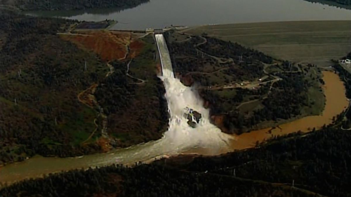 Oroville Dam's partially repaired spillway may be put to the