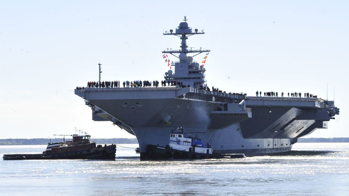 Sneak peek at US Navy's new $13B aircraft carrier - CNNPolitics
