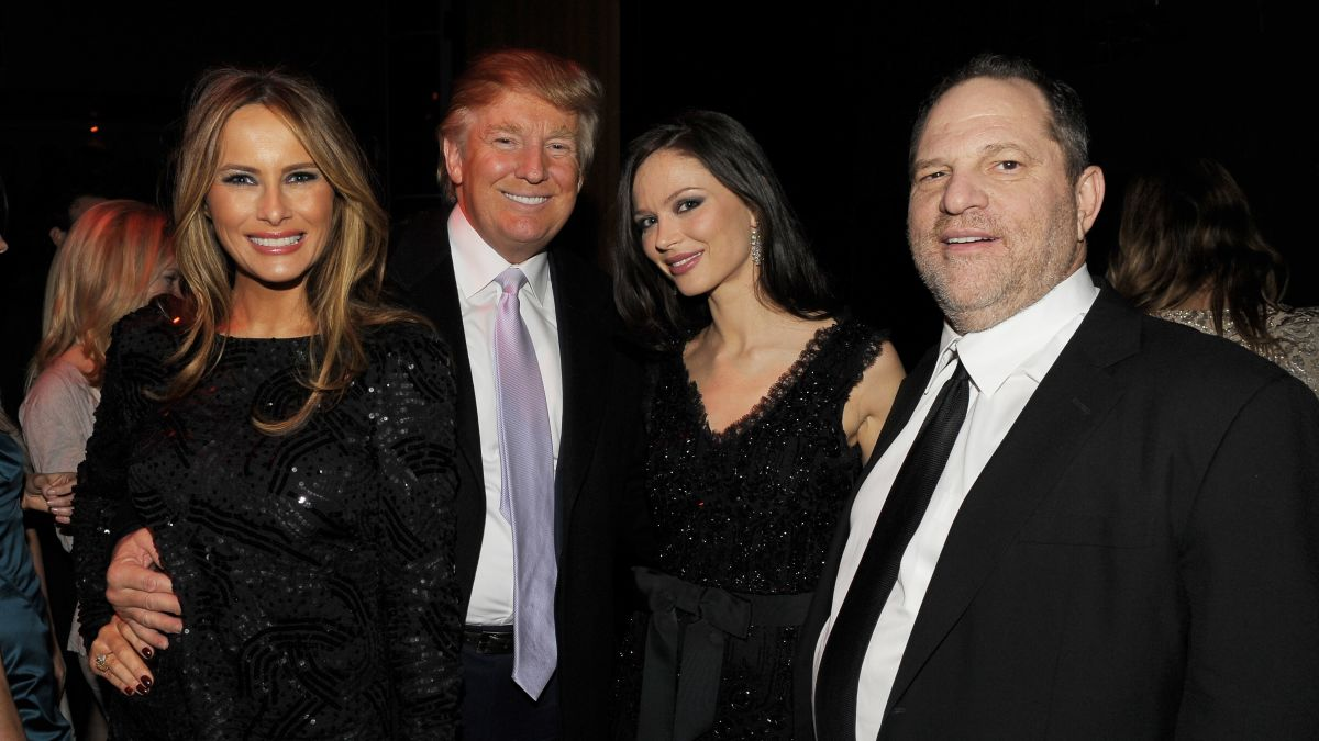 Image result for weinstein and trump together