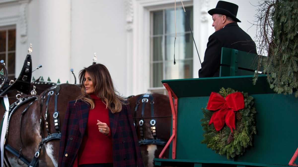Melania Trump White House Christmas.Melania Trump Unveils White House Holiday Decor Cnnpolitics