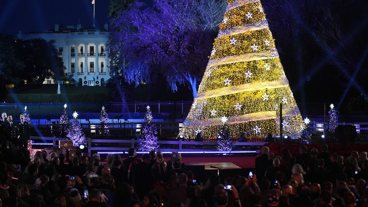 Watch National Christmas Tree Lighting 2020 Cnn Christmas party drama at the White House   CNN Video