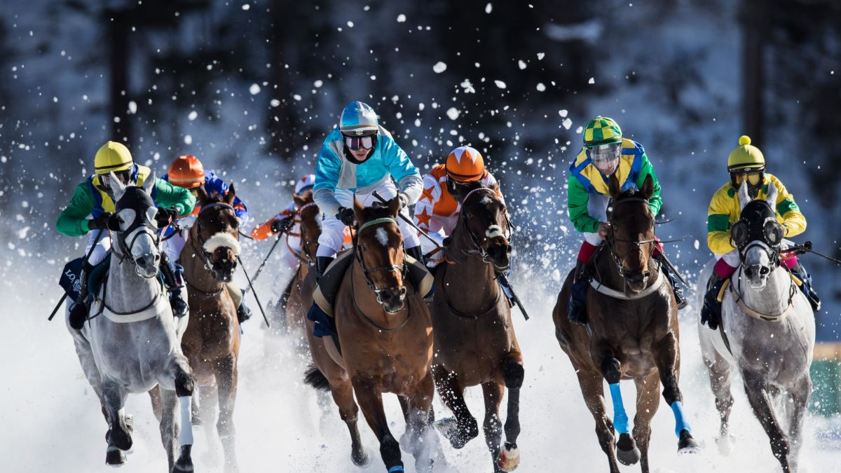 White Turf Horse Racing With A Touch Of Frost Cnn