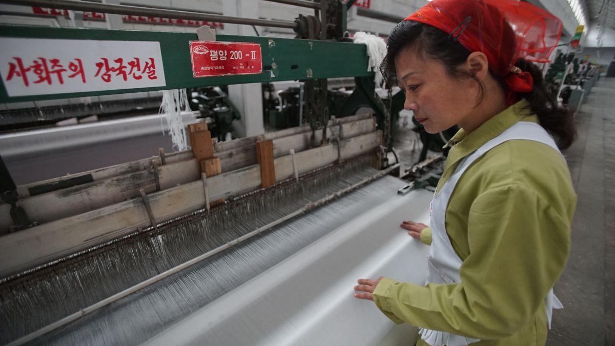North Korea's largest textile factory