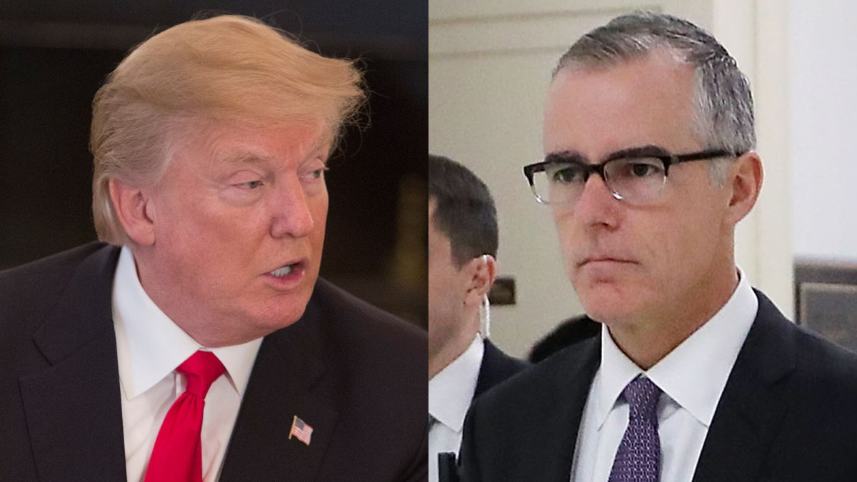Image result for images of trump's tweets about mccabe