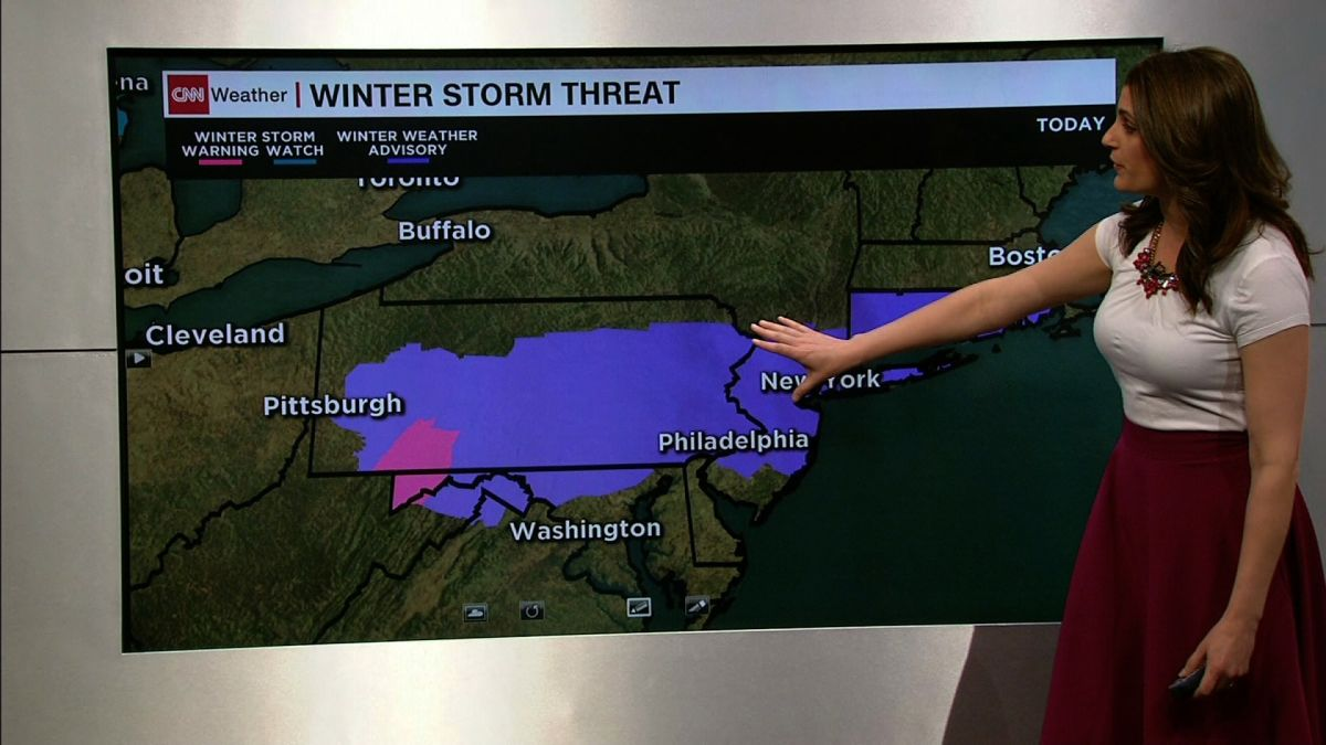 April snow to cripple travel in Northeast