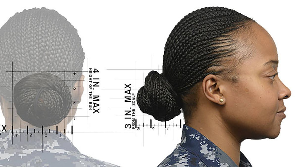 Navy hairstyle policy: Women can now wear ponytails, braids ...