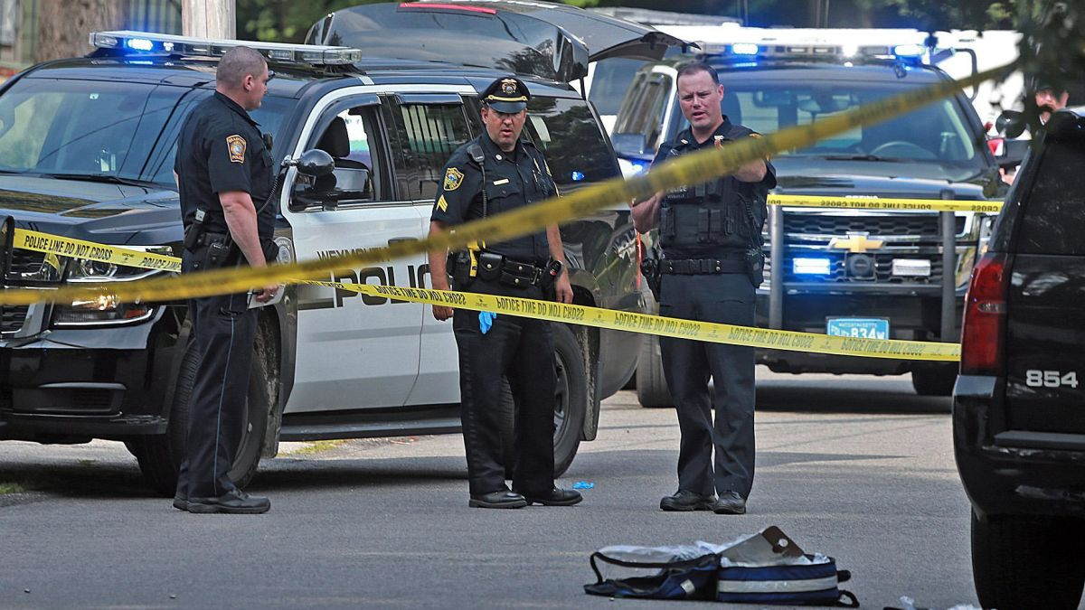 Image result for Police officer, bystander fatally shot near Boston