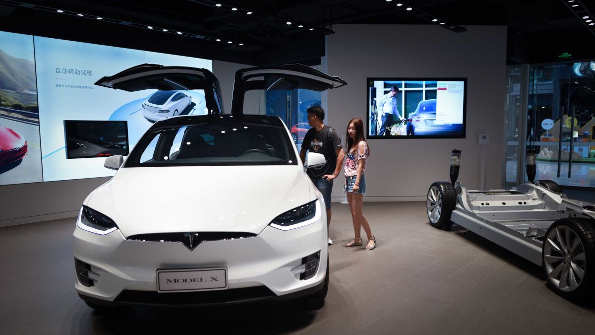 Image result for Tesla investigates after car appears to explode in China