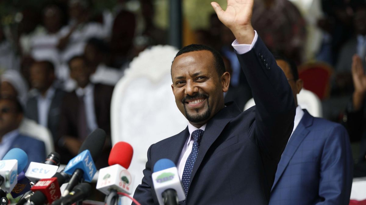 Image result for abiy ahmed  swearing in