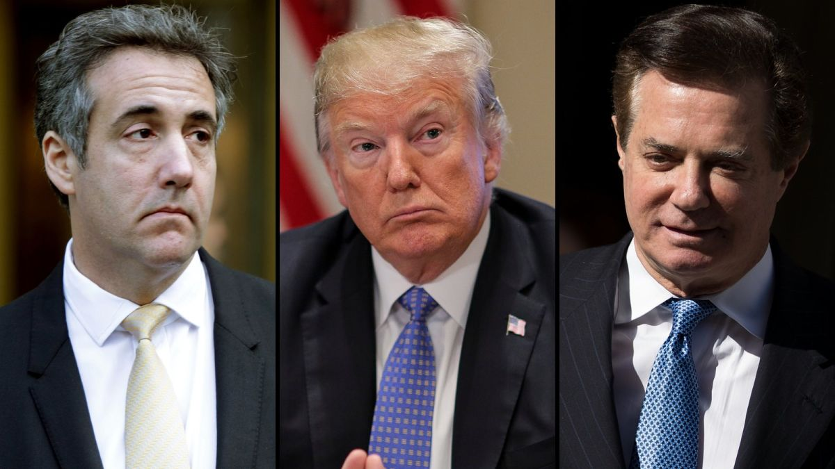 Image result for Two courtroom dramas leave Trump's presidency on a cliffhanger
