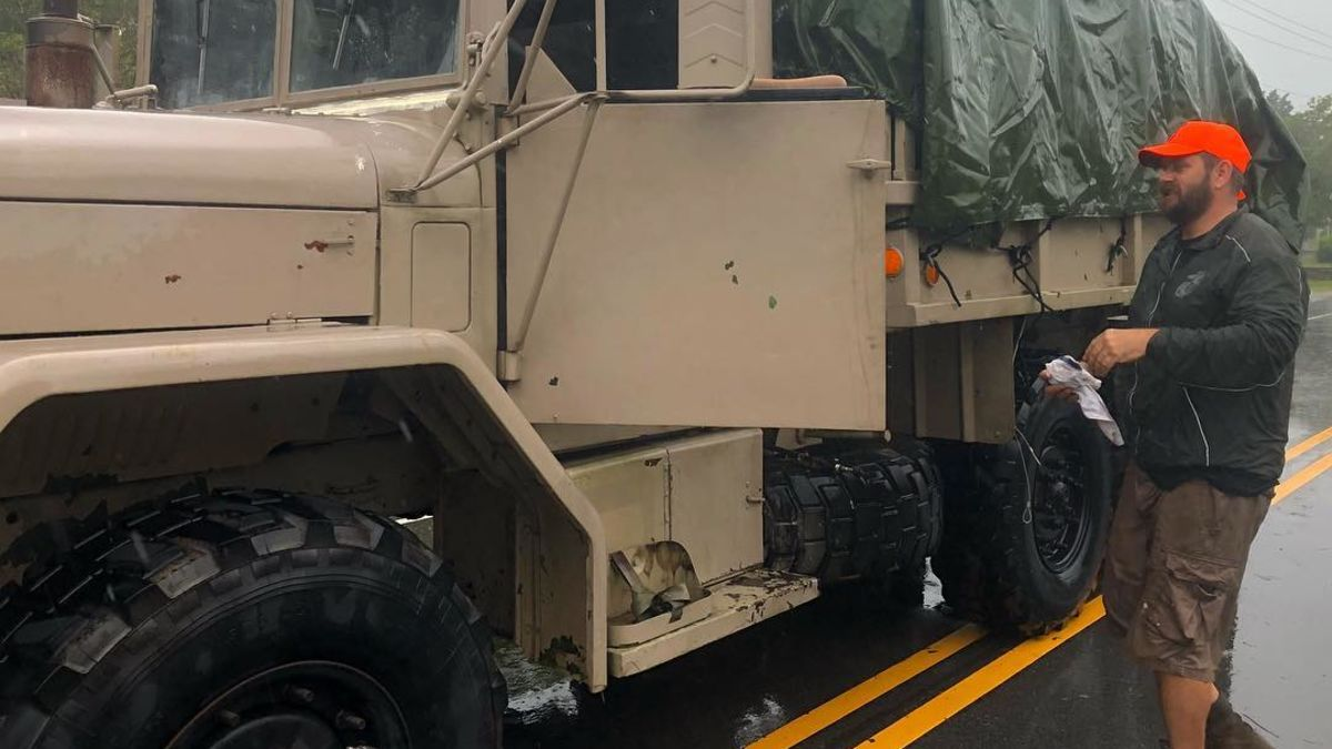 cnn.com - By Ed Lavandera and Eric Levenson, CNN - This retired Marine is rescuing storm victims in his military transport vehicle