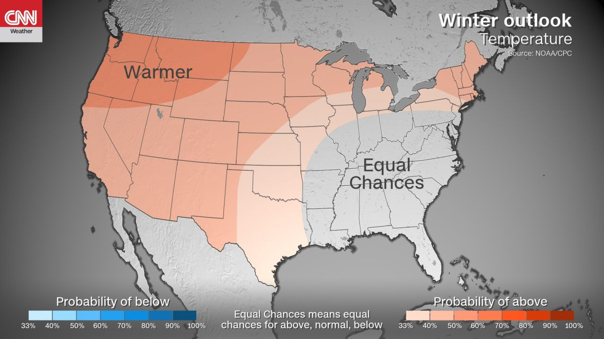 Winter may be mild for many, according to NOAA forecast - CNN