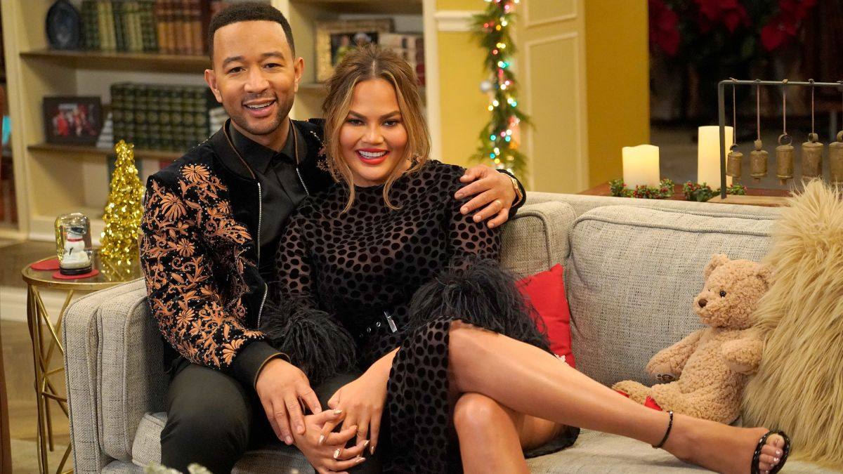 Image result for John Legend and Chrissy Teigen's holiday special has us craving a sitcom