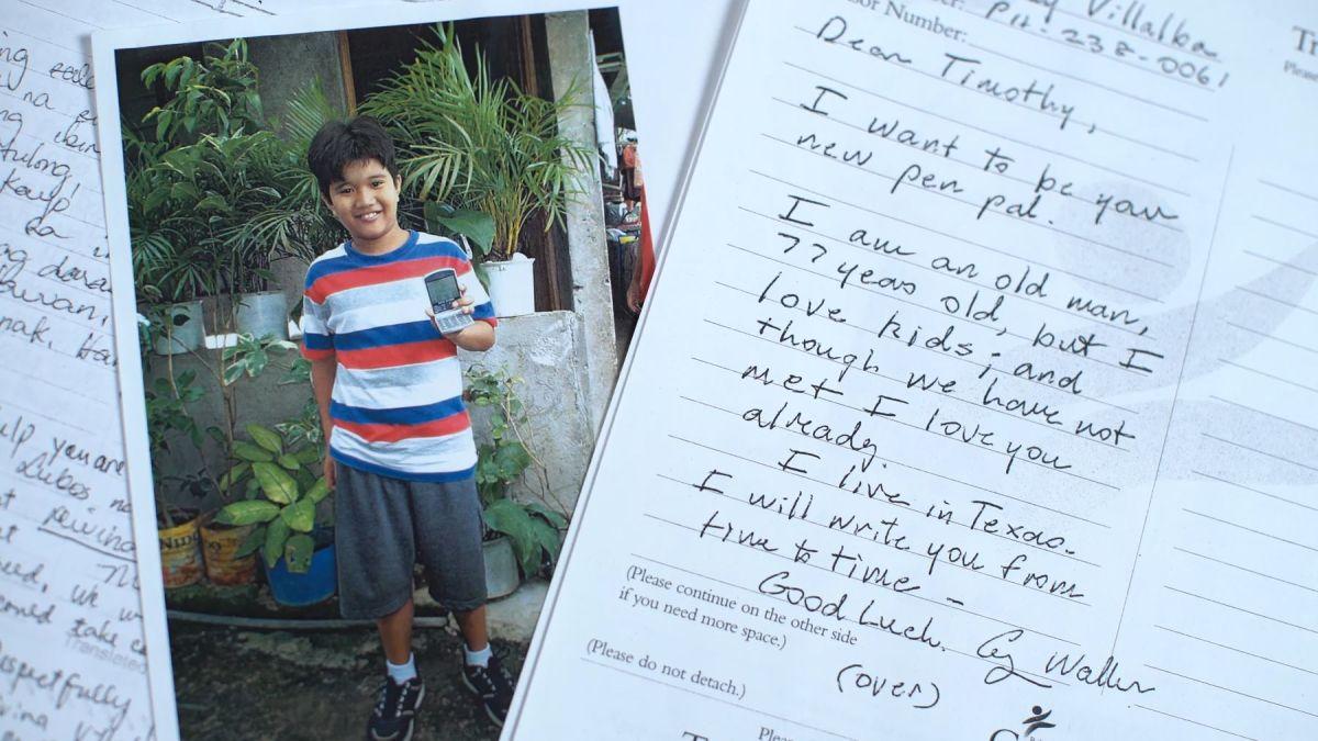 George H W  Bush sponsored a Filipino child using a