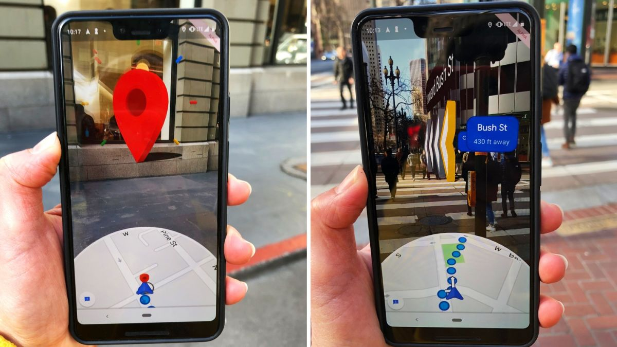 Google Maps is using giant virtual arrows to stop people