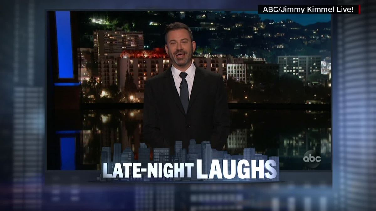 Late-night comics rail on Trump's shot at George Conway