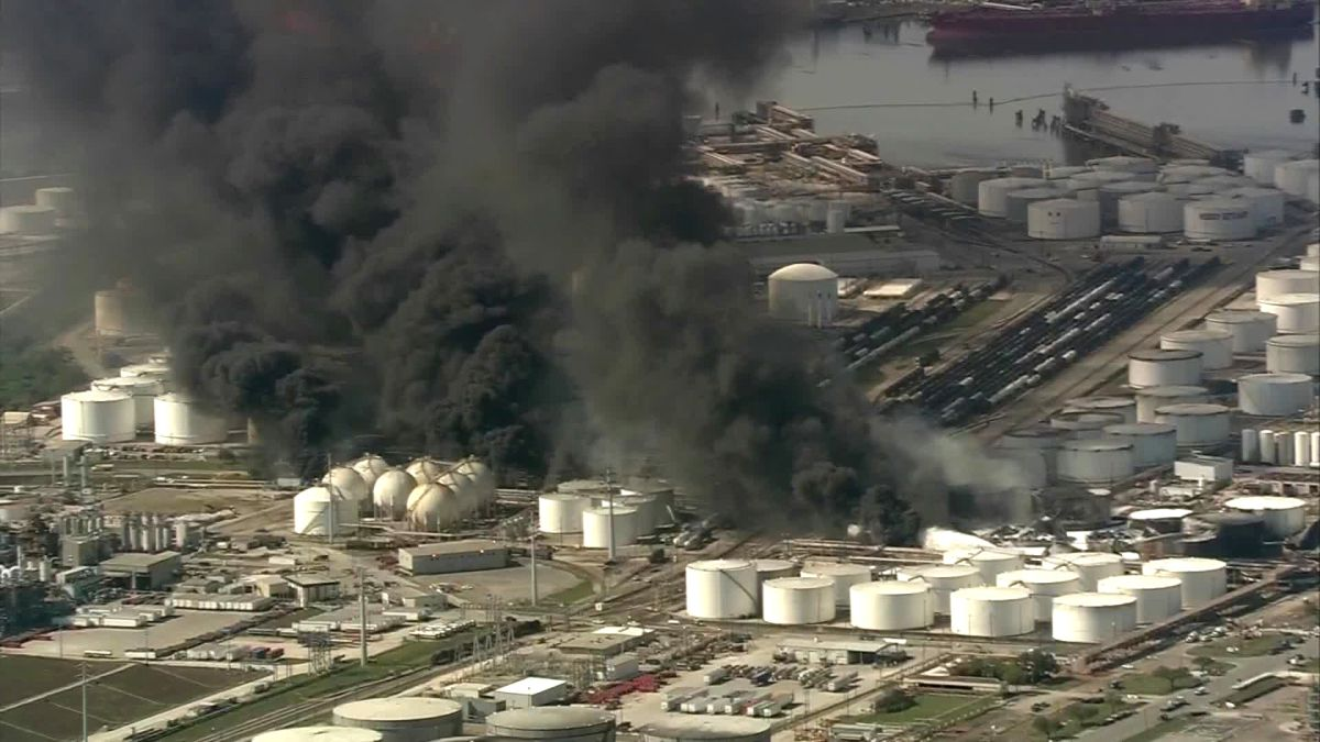 Firefighters contain latest flare up at Deer Park, Texas, chemical plant