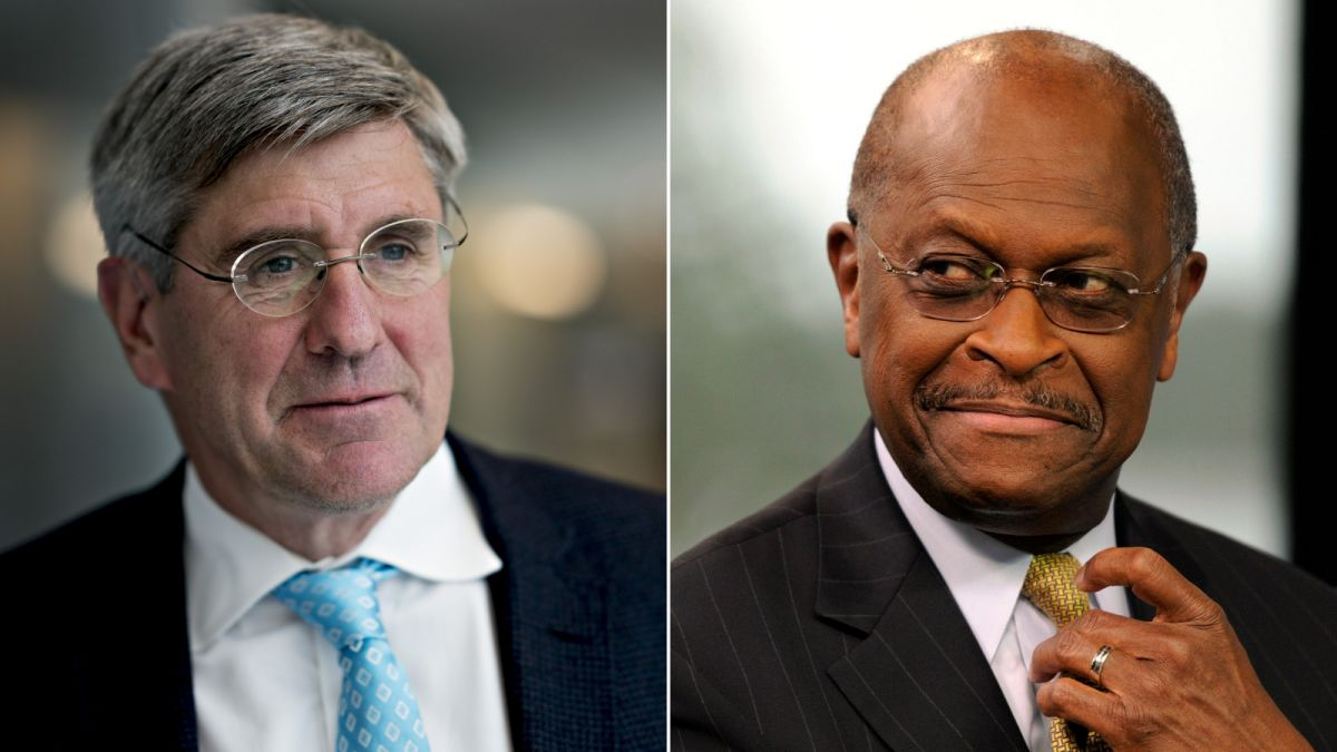 Image result for Herman Cain and Stephen Moore
