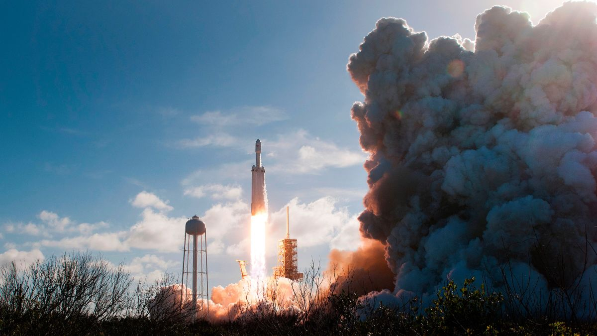 SpaceX's Falcon Heavy rocket launches first paid mission and