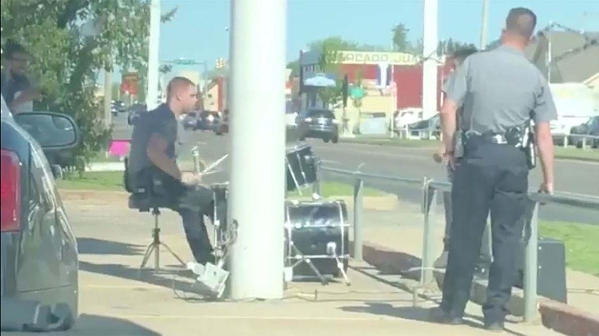 A police officer responded to a noise complaint about a man