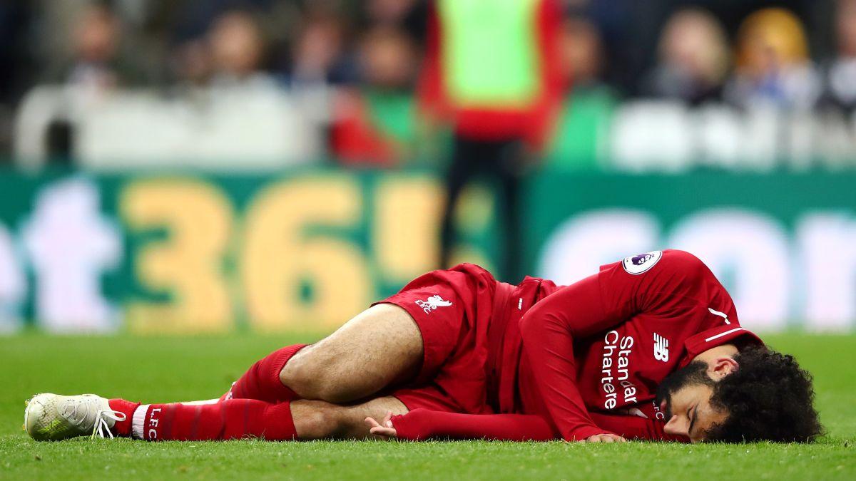 نتيجة بحث الصور عن Mohamed Salah + injury + Newcastle