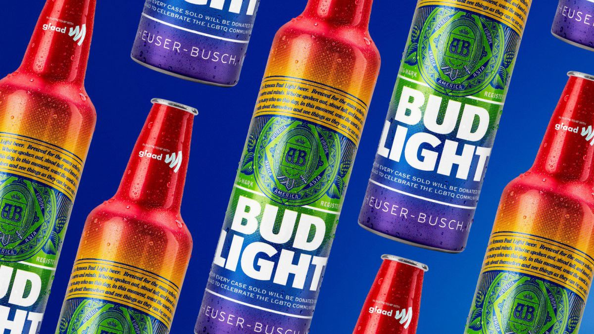 Bud Light is selling beer in rainbow bottles in June to