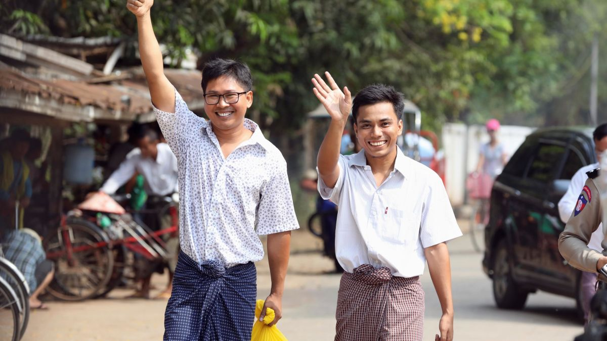 Reuters journalists jailed in Myanmar released after more than 500 days