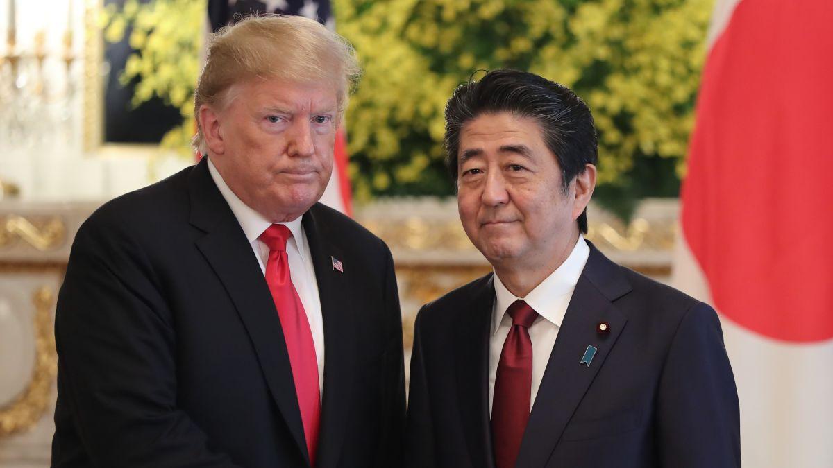 Image result for Trump met new emperor in Japan