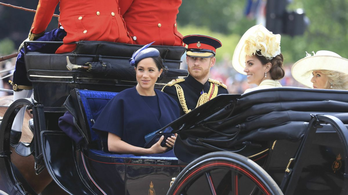 Meghan at Trooping the Colour in first royal engagement since giving
