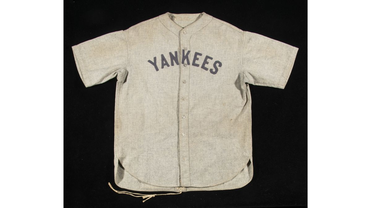 67278c66a22 Babe Ruth's jersey sold at auction for a record-breaking $5.6 million - CNN