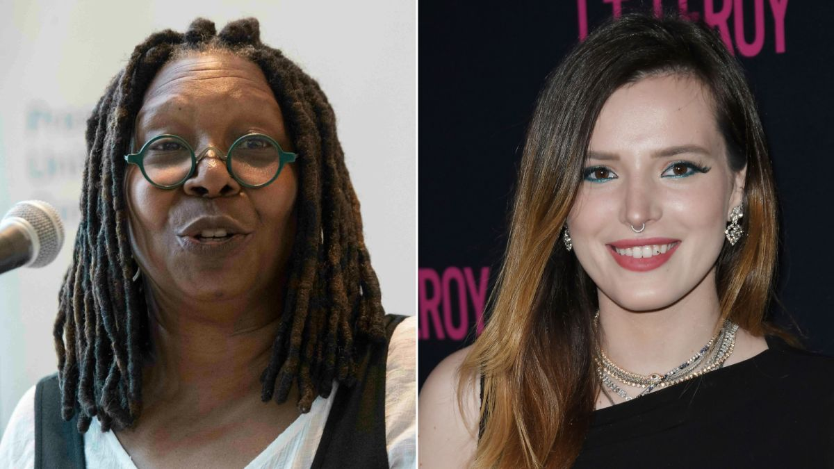 Image result for bella thorne and whoopi goldberg