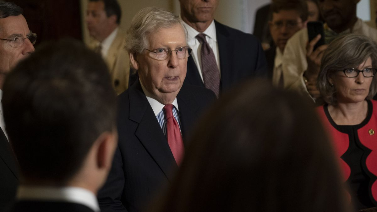 Mitch Mcconnell Fractures Shoulder After Falling In Kentucky Home Cnnpolitics
