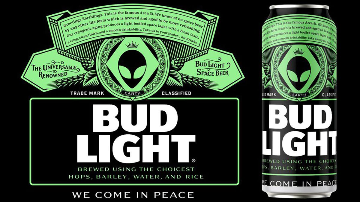 Area 51: Bud Light is offering free beer to any aliens that