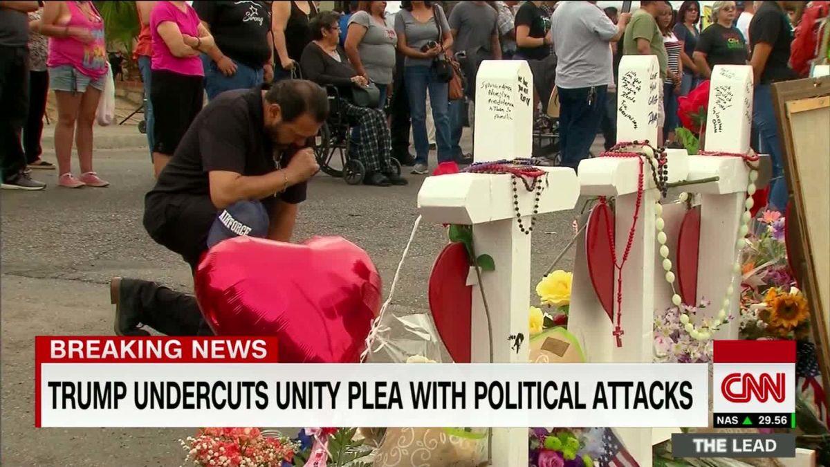 Trump undercuts unity plea with political attacks
