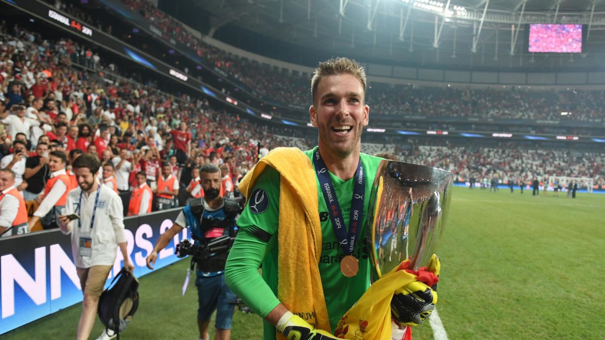 ผลการค้นหารูปภาพสำหรับ Liverpool goalkeeper Adrian injured in bizarre incident with celebrating fan