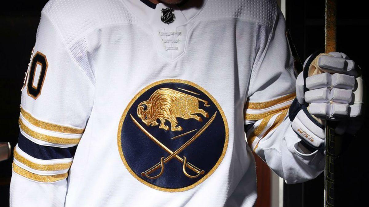 super popular 4c40f 94e87 The Buffalo Sabres debut gold jersey for special season - CNN