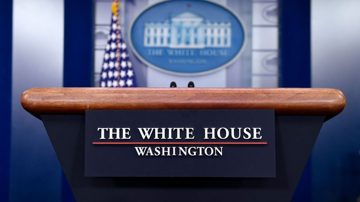 Image of the white house press briefing room.