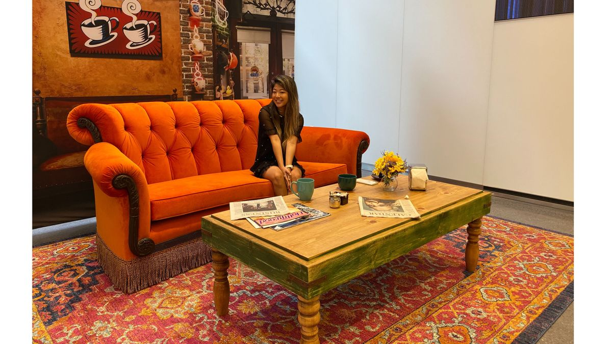 Find an orange couch inspired by \'Friends\' TV show - CNN