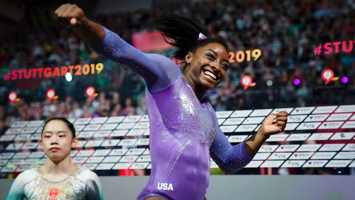 Gymnastics Current Events 2020.Simone Biles Ties Record For Most World Gymnastics