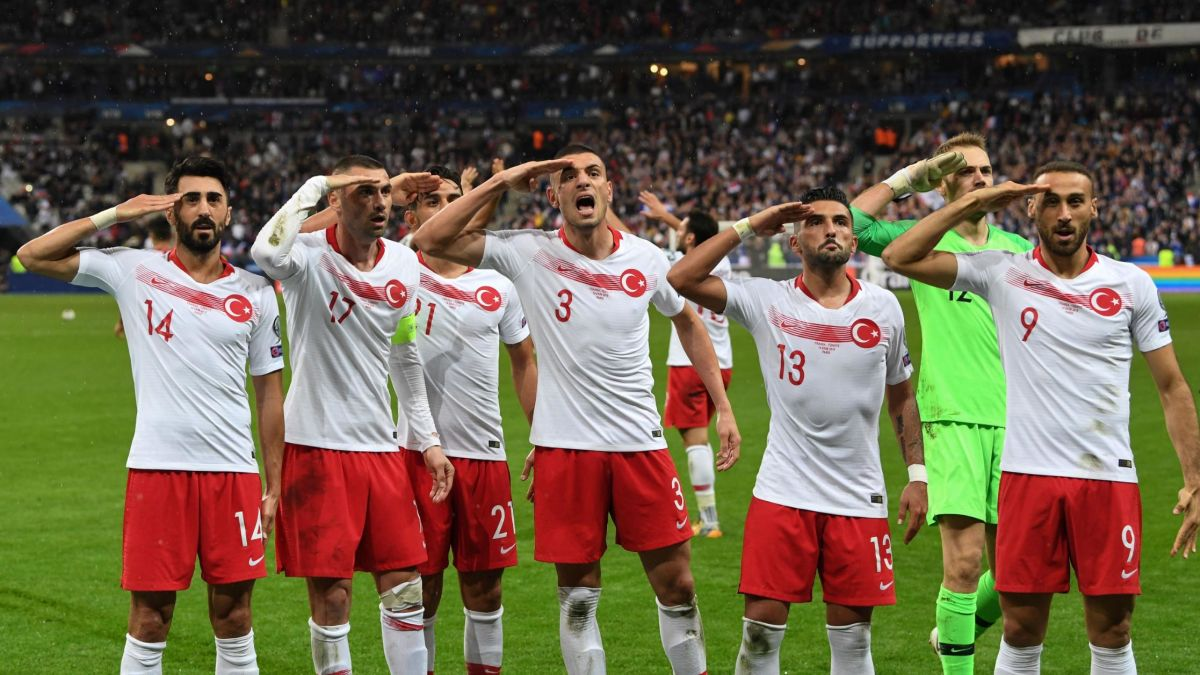 After Turkish football team repeat military salute, French politicians call for action - CNN
