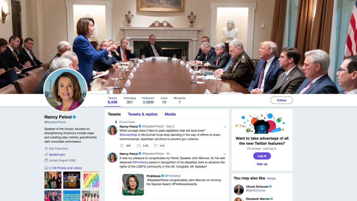 cnn.com - By Paul LeBlanc, CNN  - Trump tweeted a photo attacking Nancy Pelosi. She made it her Twitter cover photo.